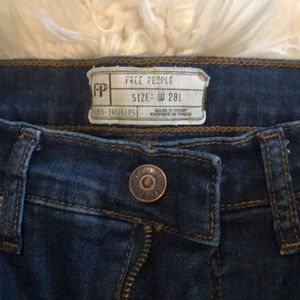 Free People High Rise Busted Knee Skinnies 28L